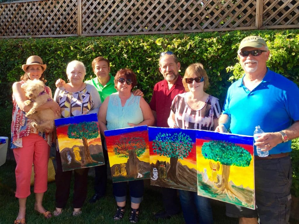 The results of the OBOL painting and wine fundraiser! We had a great turnout of 50 animal lovers.