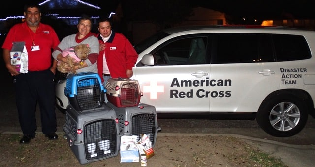 The American Red Cross came to OBOL at 10PM.  There was a fire in a low-income apartment, and we donated crates and food for the animals of the residents who were displaced.