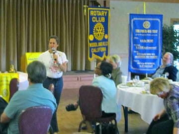 Presentation to the Rotary Club for their community service project.